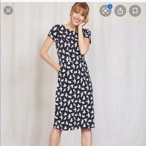 Boden Phoebe Bird t-shirt Dress